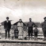 La famille Turcotte en 1911 à Amos.