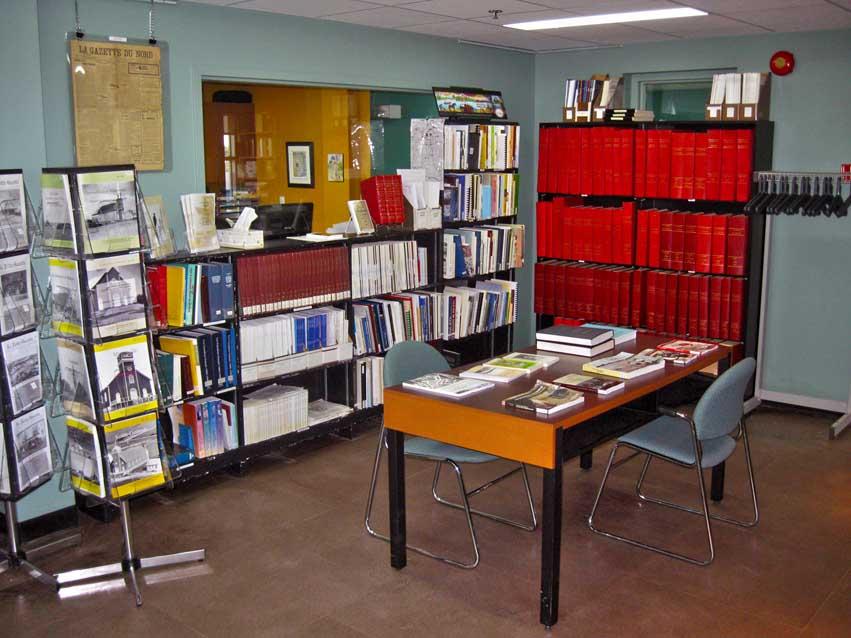 Les ouvrages de consultation au Centre d'archives d'Amos