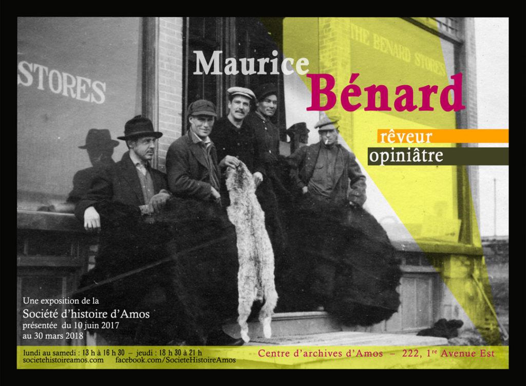 Carton d'exposition «Maurice Bénard, rêveur opiniâtre»