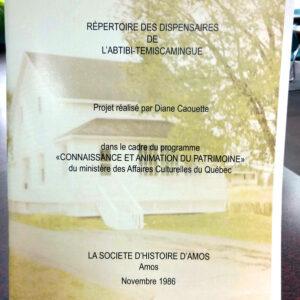 Couverture du répertoire des dispensaires de l'A.-T.