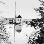 Le moulin près des rapides (avant 1962). SHA - Coll. Société d'histoire d'Amos