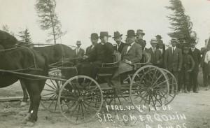 Visite de Sir Lomer Gouin, premier ministre du Québec à Amos en 1914. SHA - Fonds Famille Defoy
