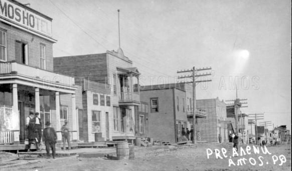 La 1re Avenue Ouest vers 1930.  SHA – Fonds Pierre Trudelle