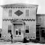 Bureau de l'Agence des terres (entre 1912 et 1921). SHA – Fonds Mariette Thibeault-Maltais