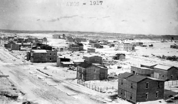 La 1re Avenue Est en 1917.  SHA – Fonds Pierre Trudelle