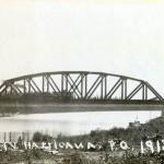 Le pont de fer en 1913. SHA - Fonds Pierre Trudelle