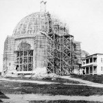La cathédrale en construction en 1922. SHA - Fonds Studio Morasse / H. Dudemaine