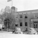 005122-01 Le bureau de poste d'Amos, probablement en 1949. SHA - Coll. Société d'histoire d'Amos