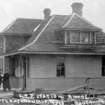 La gare d'Amos en 1913. SHA - Coll. SHA.